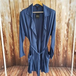 Blue Blouse Blazer Jacket NWT Forever 21 Large